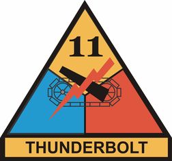 11th Armored Division Sticker Thunderbolt Decal