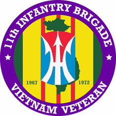 11th Infantry Brigade Vietnam Veteran Decal