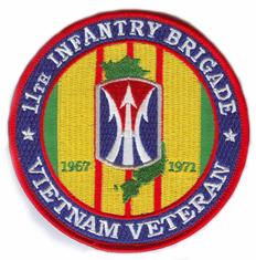 11th Infantry Brigade Vietnam Veteran Patch