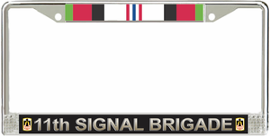 11th Signal Brigade Afghanistan License Plate Frame