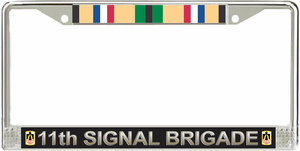 11th Signal Brigade Gulf War License Plate Frame