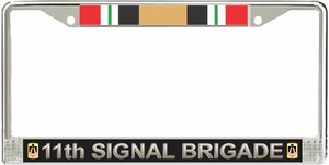 11th Signal Brigade Iraq Veteran License Plate Frame