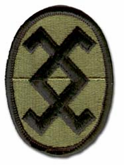 """120TH ARMY RESERVE COMMAND SUBDUED 3"""" MILITARY PATCH"""
