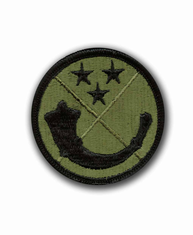 "125TH USARC COMMAND 2½"" SUBDUED MILITARY PATCH"
