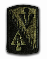 "128TH AVIATION BRIGADE SUBDUED 3"" MILITARY PATCH"