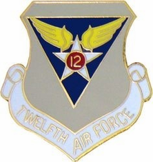 12th Air Force Shield Lapel Pin