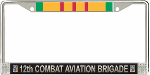12th Aviation Brigade Vietnam Veteran License Plate Frame