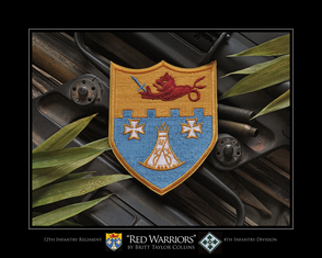 "12th Infantry Regiment ""Red Warriors"" Giclee Print"