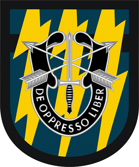 12th special forces group flash decal