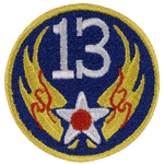 "13th Air Force 3"" Patch"