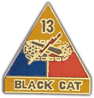 13th Armored Division Lapel Pin