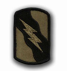 "155TH ARMORED BRIGADE SUBDUED 3"" MILITARY PATCH"