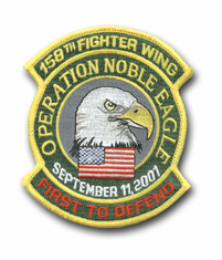 "158th FIGHTER WING ""OPERATION NOBLE EAGLE"" MILITARY PATCH"