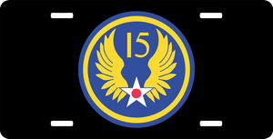 15th Air Force License Plate