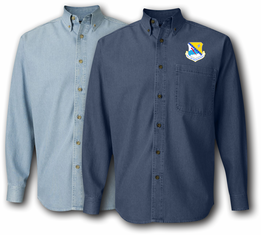 168th Air Refueling Wing Denim Shirt