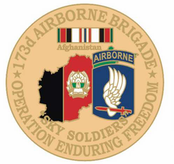 "173rd Airborne Brigade 1 1/8"" Operation Enduring Freedom Lapel Pin"