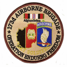 """173rd Airborne Brigade 4"""" Operation Enduring Freedom Patch"""