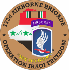 173rd Airborne Brigade OIF Decal