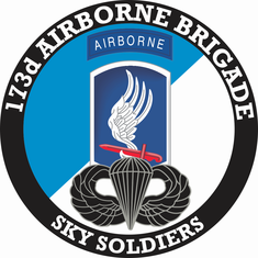 173rd Airborne Brigade with Jump Wings Decal