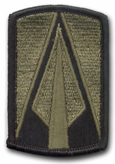 "177TH ARMORED BRIGADE SUBDUED 3"" MILITARY PATCH"