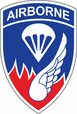 187th Infantry Regiment Airborne Patch Decal