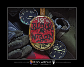 """188th Assault Helicopter Company """"Black Widows"""" Giclee Print"""