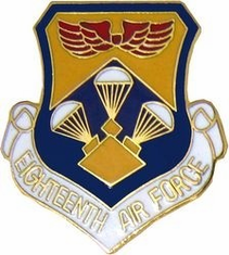 18th Air Force Shield Lapel Pin