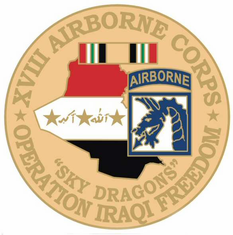 "18th Airborne 1 1/8"" Operation Iraqi Freedom Lapel Pin"