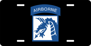 18th Airborne Corps License Plate