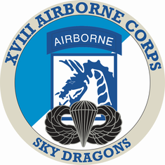 18th Airborne Corps with Jump Wings Decal