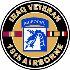 18th Airborne Iraq Veteran Decal
