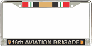 18th Aviation Brigade Iraq Veteran License Plate Frame