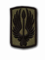 """18TH AVIATION BRIGADE SUBDUED 3"""" MILITARY PATCH"""
