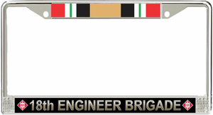 18th Engineer Brigade Iraq License Plate Frame