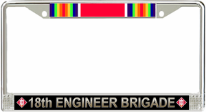 18th Engineer Brigade WW2 License Plate Frame
