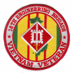 "18th Engineering Brigade Vietnam Veteran 4"" Patch"