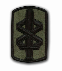 "18TH MEDICAL COMMAND SUBDUED 3"" MILITARY PATCH"