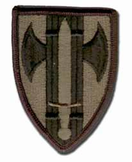 "18TH MILITARY POLICE BRIGADE 3"" SUBDUED MILITARY PATCH"