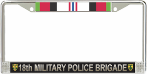 18th Military Police Brigade Afghanistan Veteran License Plate Frame
