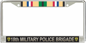 18th Military Police Brigade Gulf War Veteran License Plate Frame