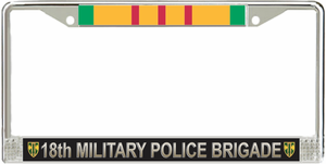 18th Military Police Brigade Vietnam Veteran License Plate Frame