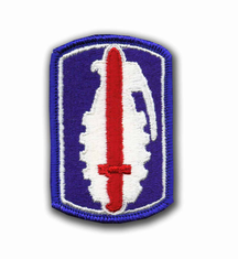 """191ST INFANTRY BRIGADE 3"""" MILTIARY PATCH"""
