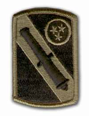 "196TH FIELD ARTILLERY BRIGADE 3"" SUBDUED MILITARY PATCH"