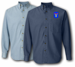 196th Infantry Brigade Denim Shirt