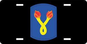 196th Infantry Brigade License Plate