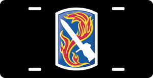 198th Infantry Brigade License Plate