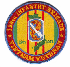 198th Light Infantry Brigade Vietnam Veteran Patch