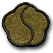 "19TH SUPPORT COMMAND SUBDUED 2¼"" MILITARY PATCH"