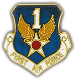 1st Air Force Shield Lapel Pin