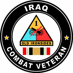 1st Armored Division Iraq Combat Veteran Operation Iraqi Freedom OIF Decal Sticker